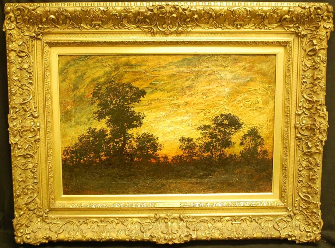 055: RALPH ALBERT BLAKELOCK OIL PAINTING