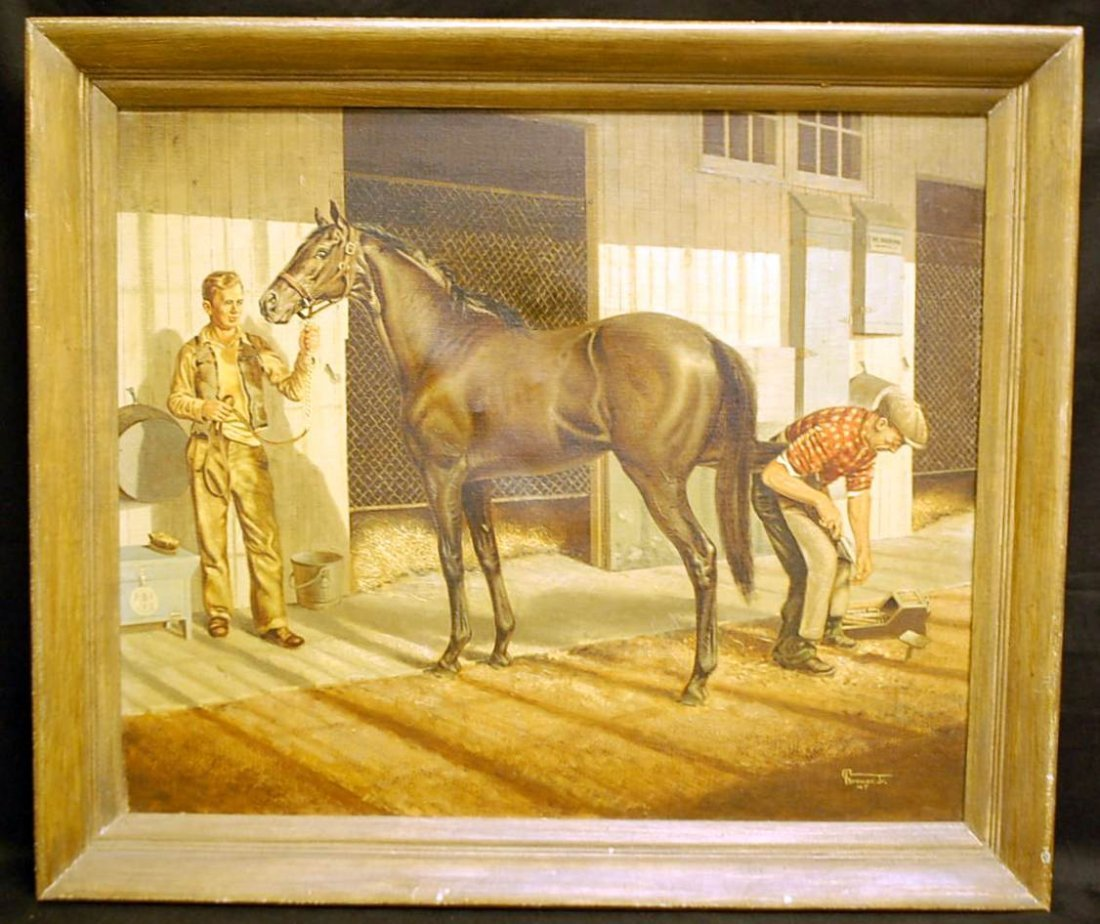 045: ALLEN F. BREWER JR. FAMOUS HORSE FERRIER PAINTING