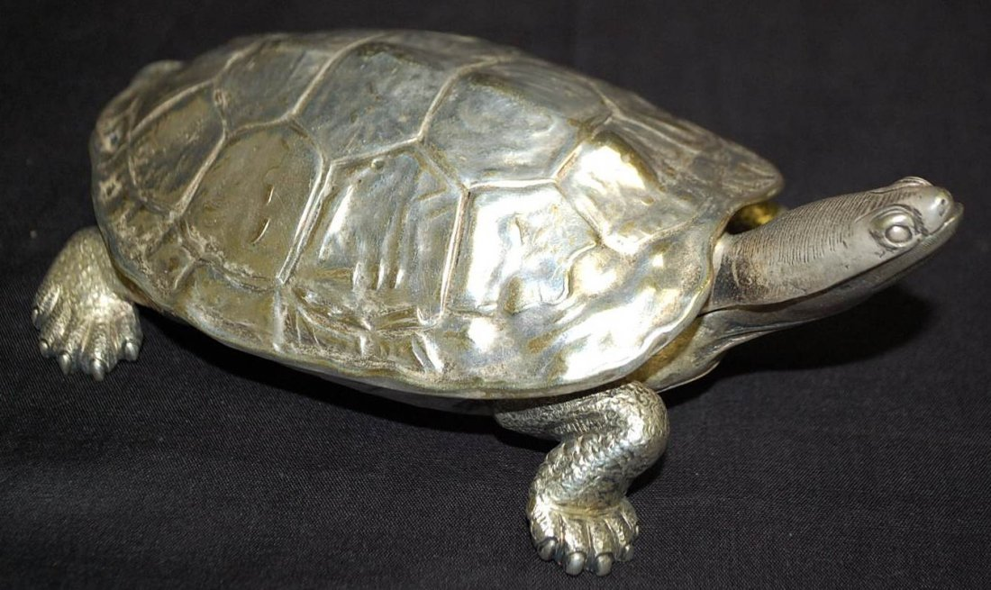 017: LOUIS SHERRY SIGNED SILVER SOLDERED TURTLE
