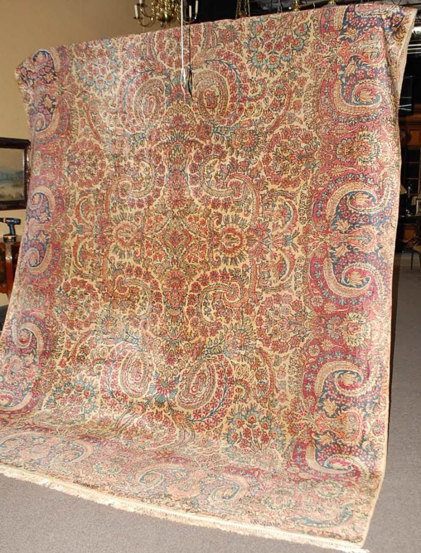 008: FINE VINTAGE PERSIAN HAND TIED ESTATE RUG
