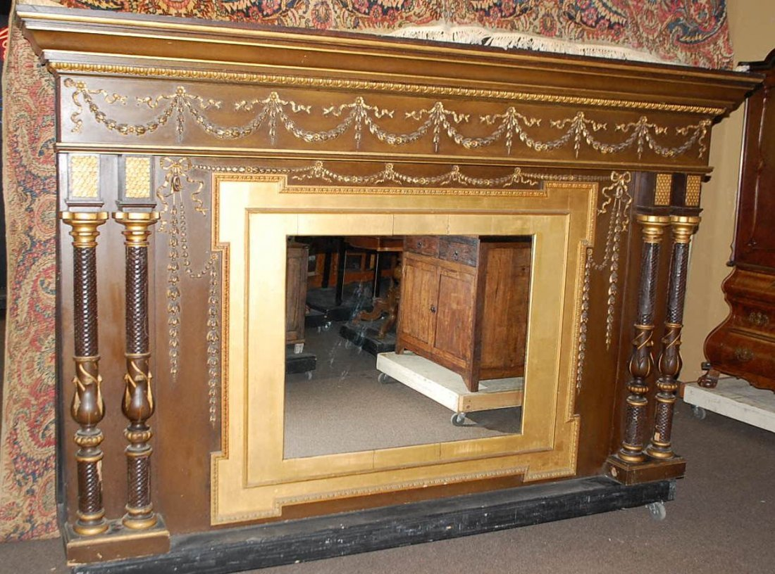 012: LARGE ORNATE OVER MANTEL MIRROR