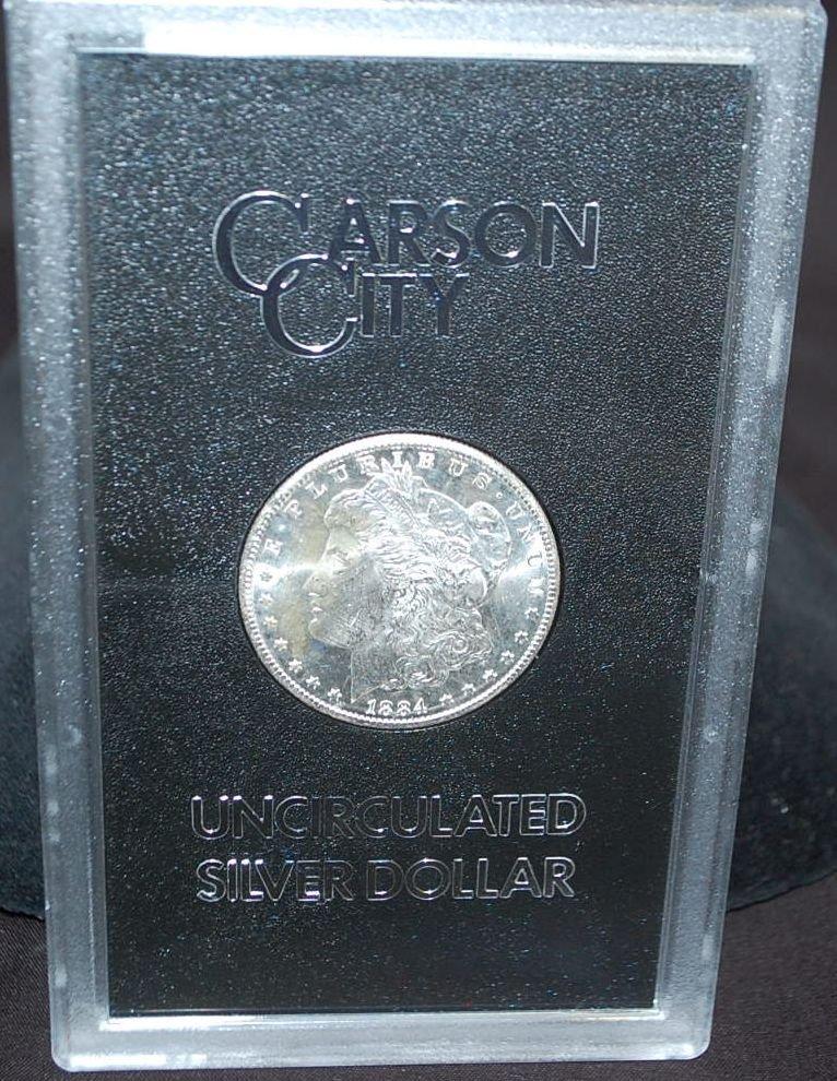 011: US CARSON CITY 1884 SILVER DOLLAR