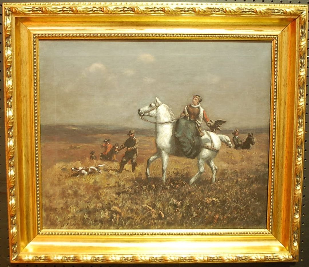 035: CHARLES LUTYENS OIL ON CANVAS PAINTING