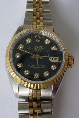 003: LADIES ROLEX 18K GOLD & STAINLESS STEEL WATCH