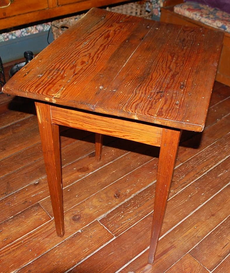 EARLY PINE  WORK TABLE