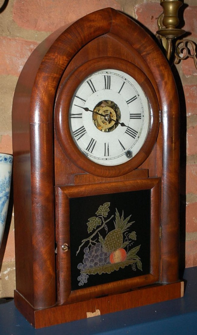 EARLY CATHEDRAL ROSEWOOD CLOCK