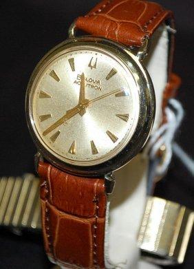 VINTAGE 1964 BULOVA ACCUTRON 14K GOLD WATCH