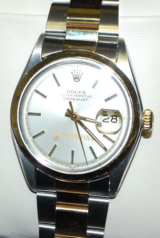 ROLEX STRATOFLEX 14K GOLD & STAINLESS WATCH