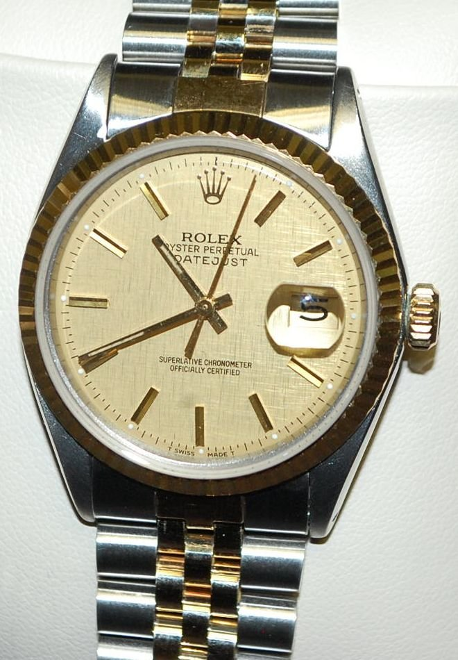 ROLEX DATEJUST 18K GOLD & STAINLESS WATCH