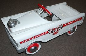 VINTAGE SPEEDWAY PACE PEDAL CAR