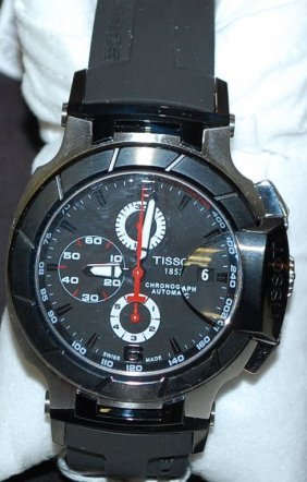 TISSOT SWISS T-RACE STAINLESS WATCH