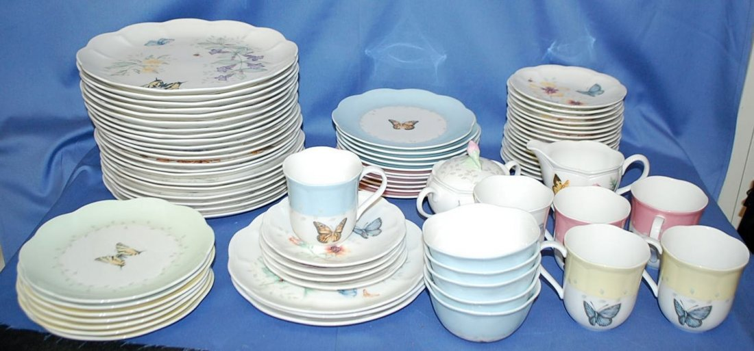 SET OF LENOX BUTTERFLY MEADOW DINNERWARE