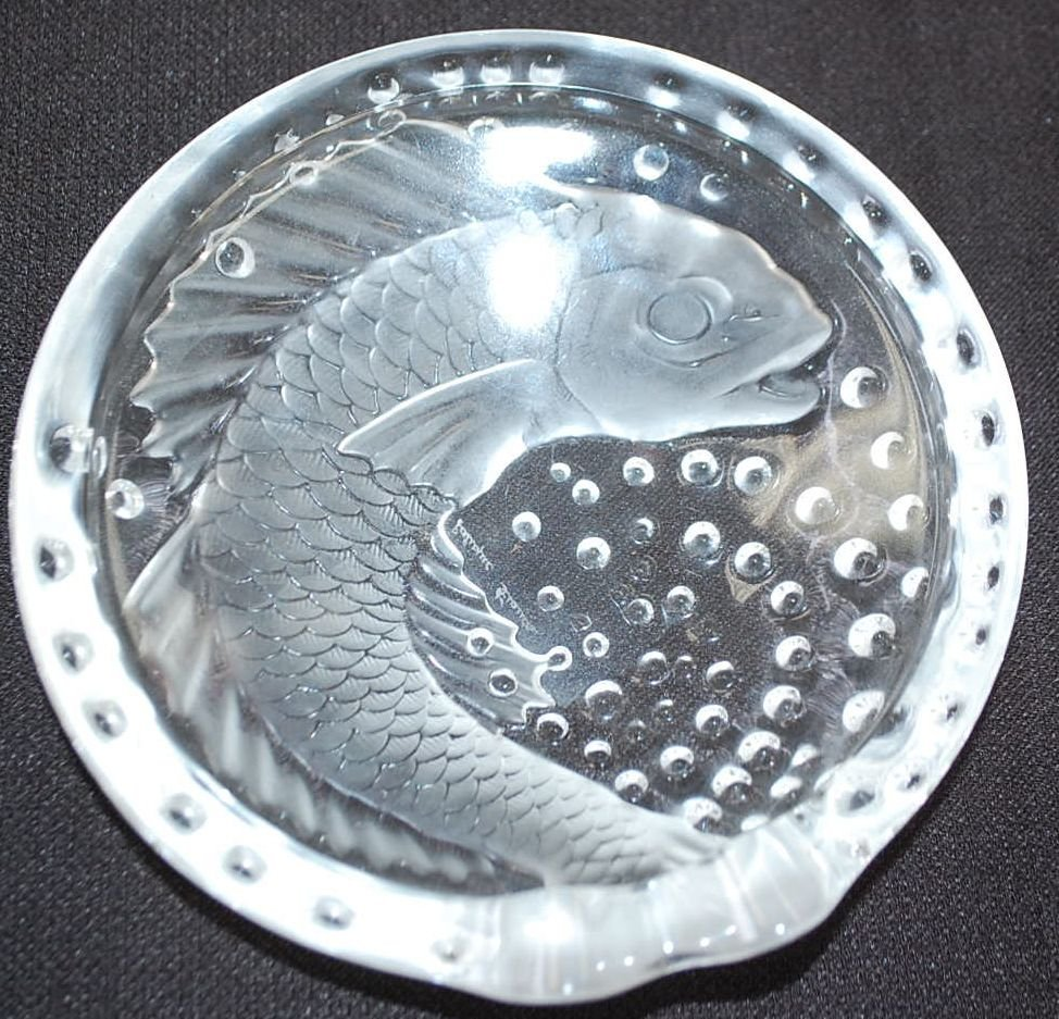 LALIQUE CRYSTAL FISH BOWL