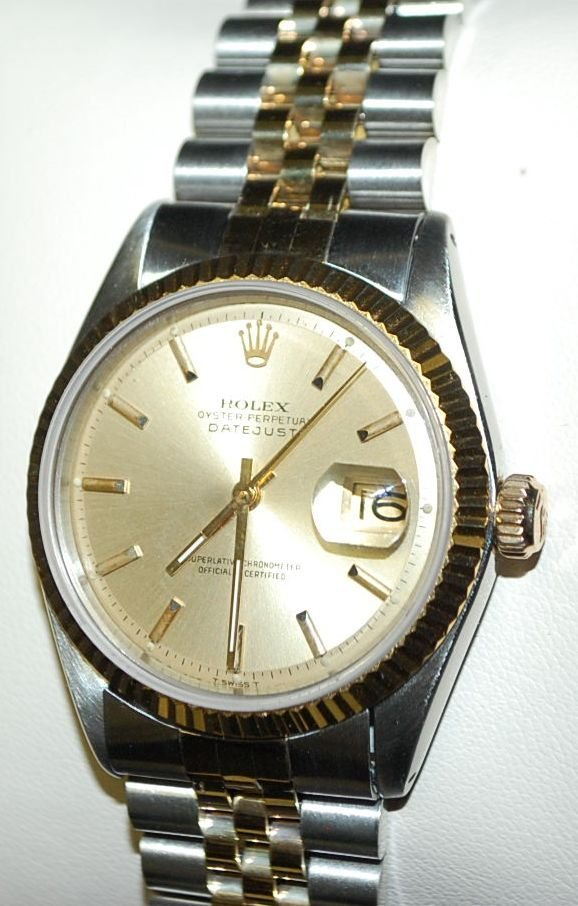 ROLEX 18K GOLD AND STAINLESS STEEL WATCH