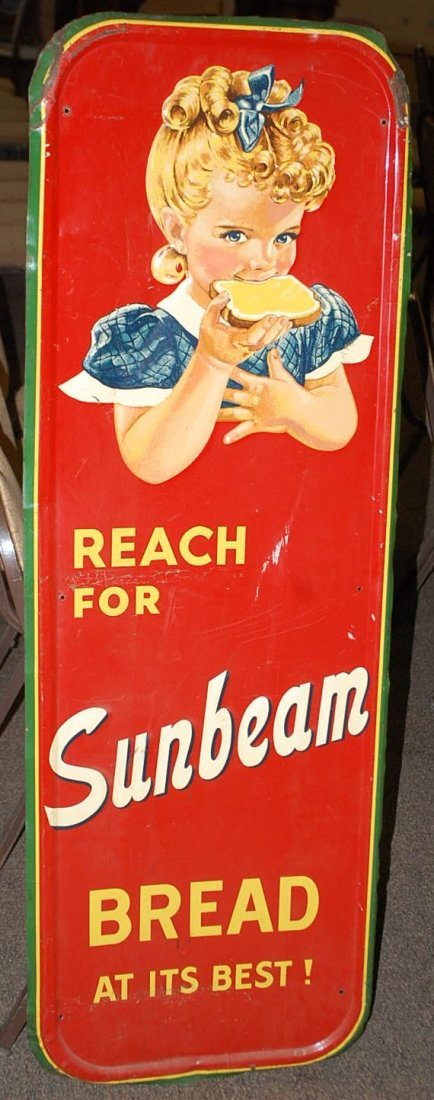 SUNBEAM BREAD ADVERTISING SIGN
