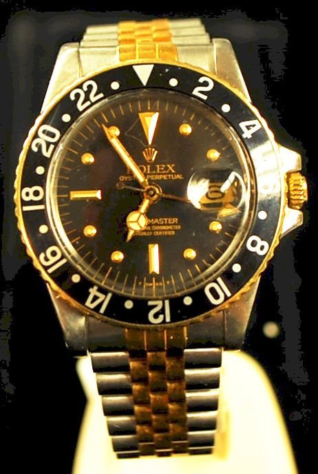 ROLEX GMT MASTER GOLD & STAINLESS WATCH