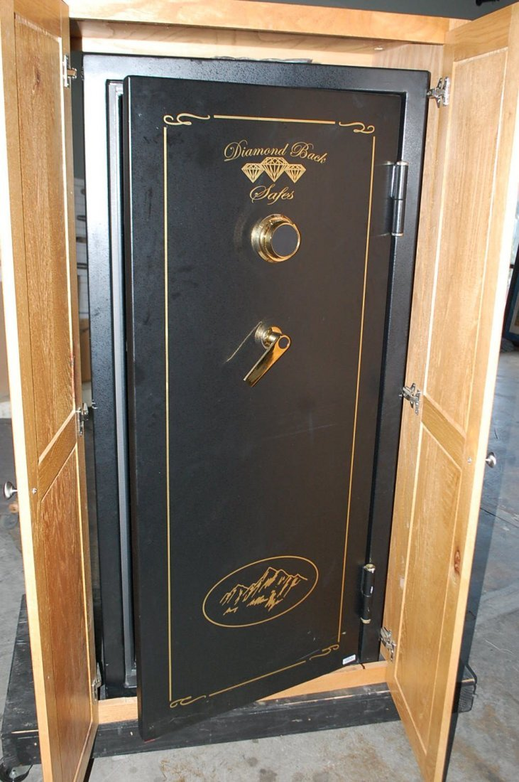 DIAMOND BACK GUN SAFE IN CABINET
