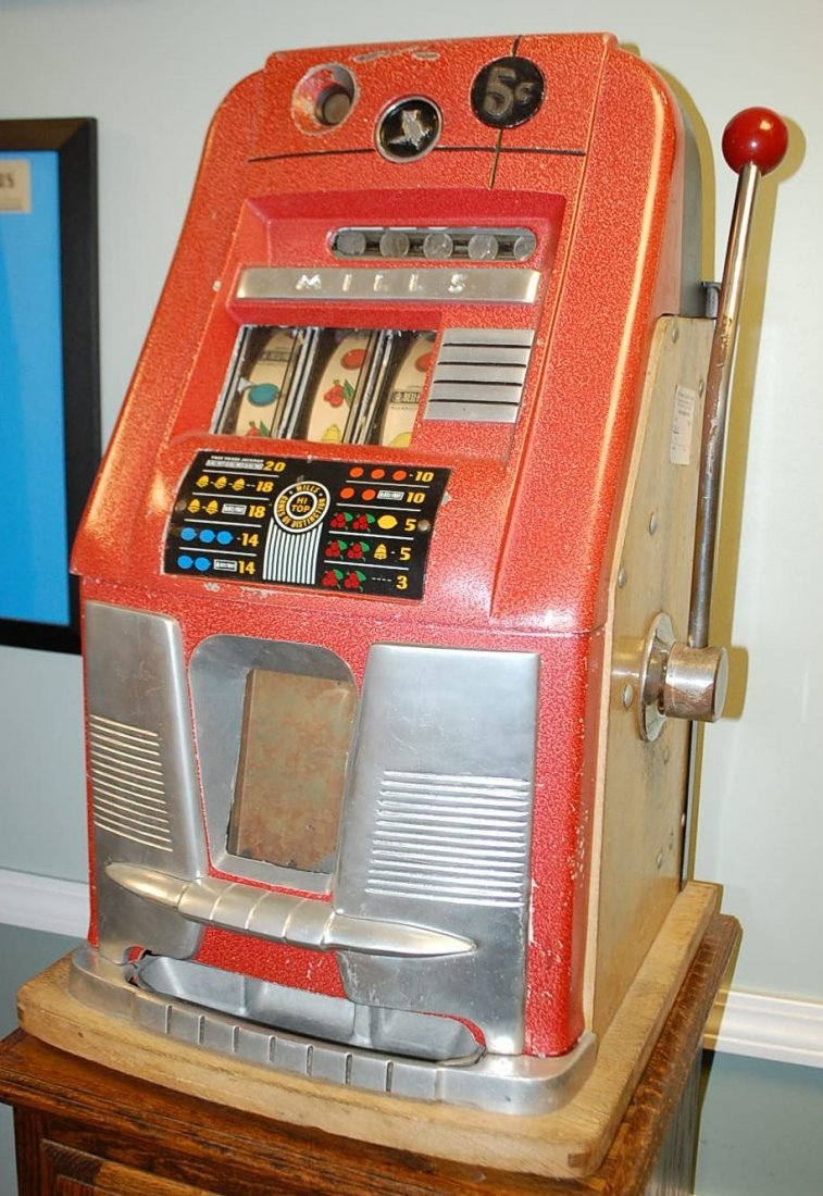 MILLS 5 CENT HIGH TOP SLOT MACHINE