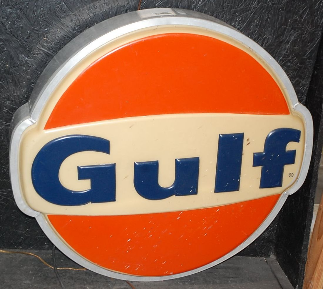 ONE SIDED LIGHT UP GULF SIGN