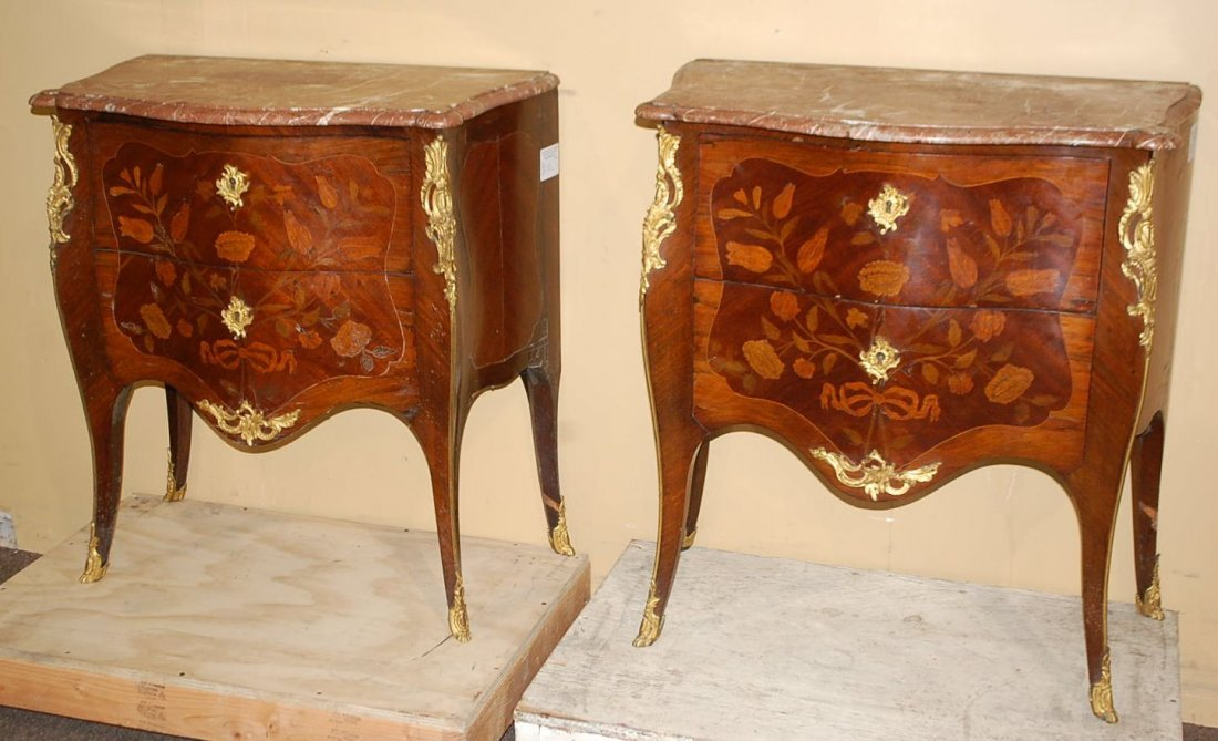 PAIR OF TURN OF THE CENTURY FRENCH COMMODES