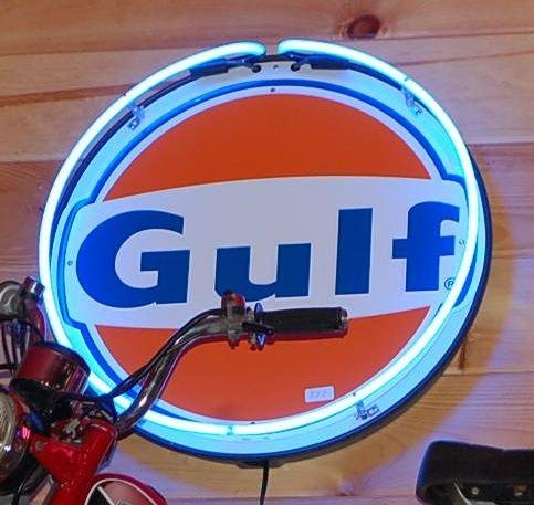 GULF OIL NEON SIGN