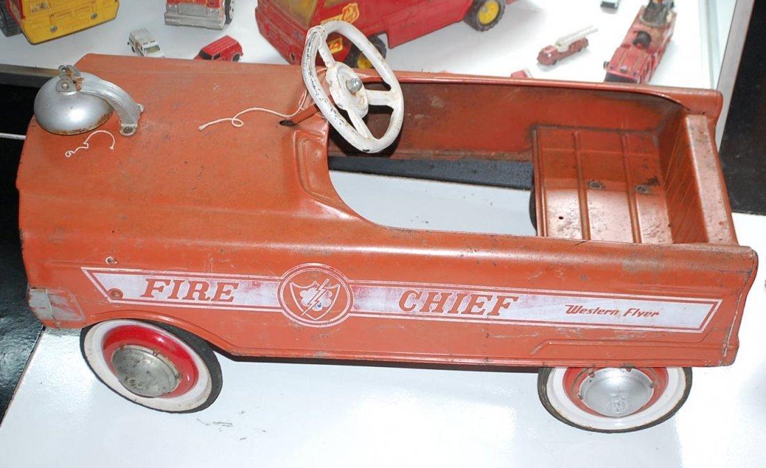 WESTERN FLYER FIRE CHEIF PEDAL CAR