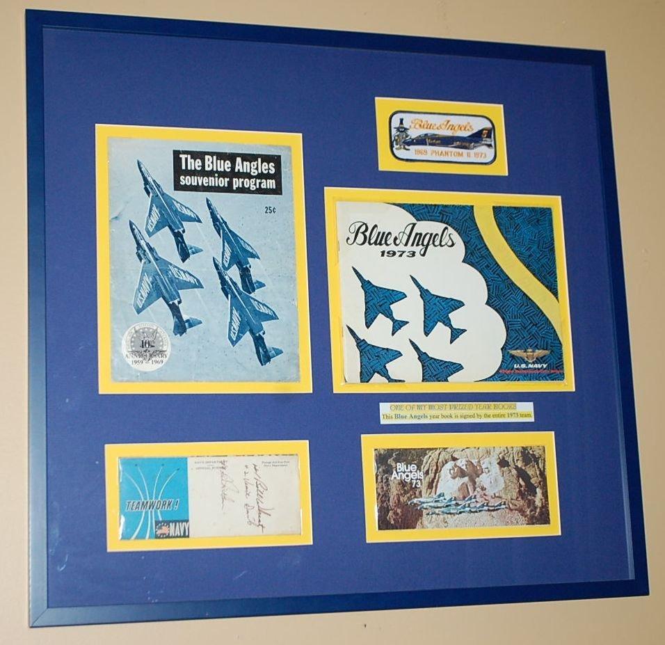 SIGNED BLUE ANGELS MEMORABILIA 1969-1973
