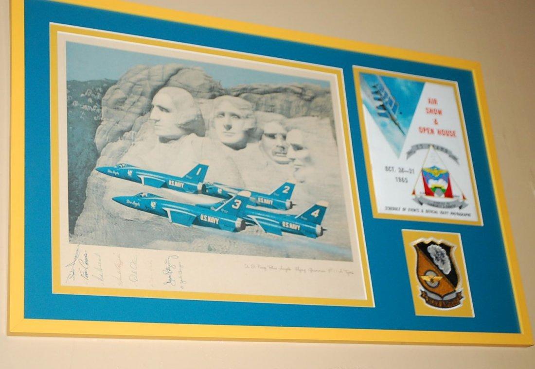SIGNED BLUE ANGELS MEMORABILIA 1965