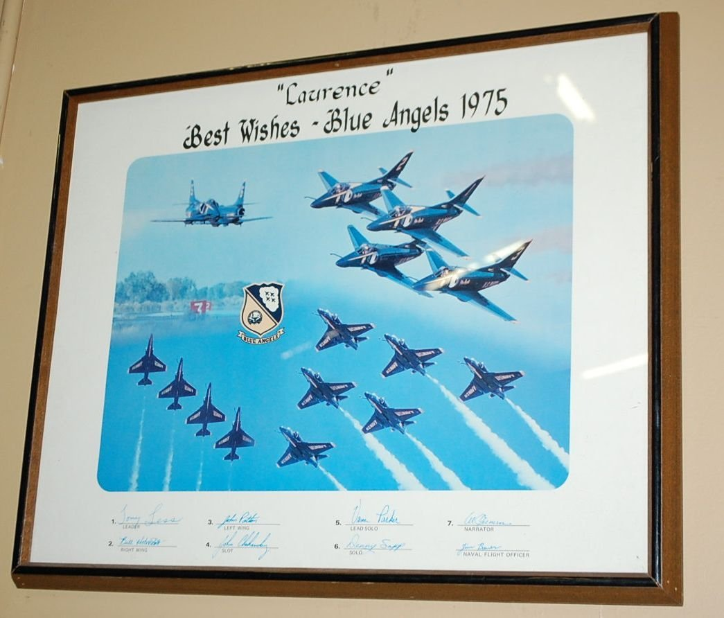 SIGNED BLUE ANGELS 1975 POSTER