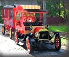 1915 Ford Calliope Truck & Dunbar Popcorn Wagon