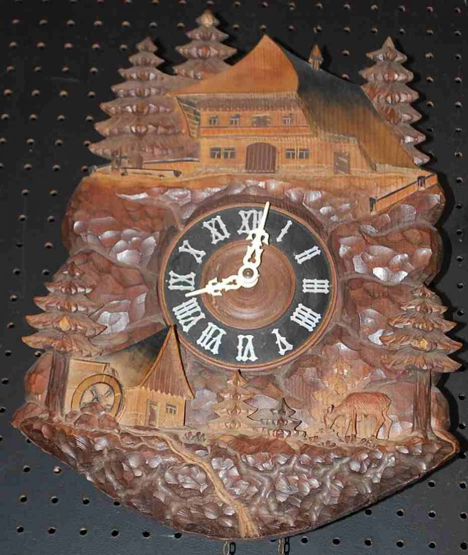 Black Forrest style Walnut Coo Coo Clock