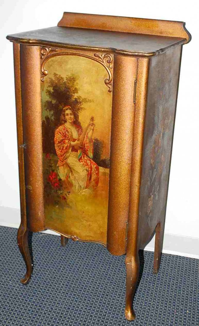 Vernis Martin Decorated Music Cabinet