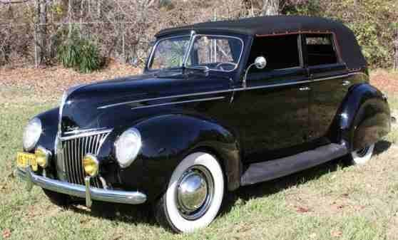 1939 FORD DELUXE 4 DOOR CONVERTIBLE