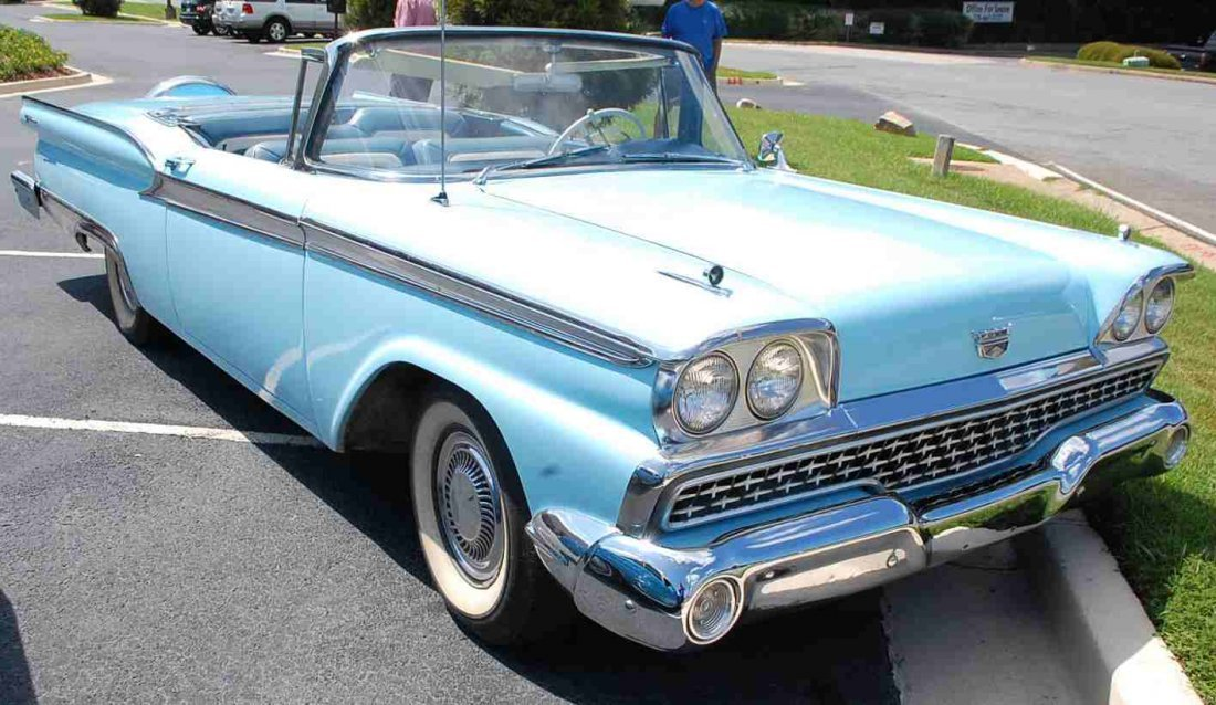1959 FORD SKYLINER RETRACTABLE HARDTOP CONVERTIBLE - 3