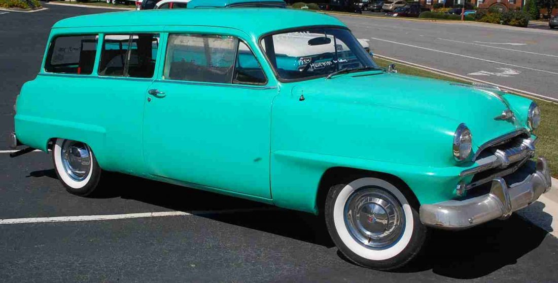 RARE 1954 PLYMOUTH TWO DOOR STATION WAGON