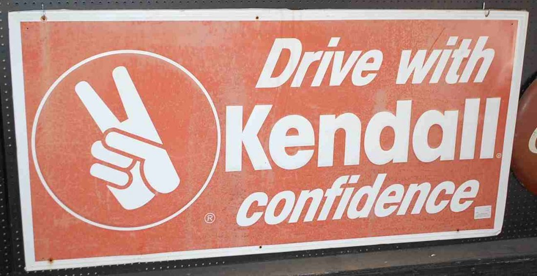 LARGE KENDALL OIL SIGN