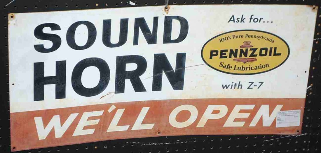 PENZOIL SOUND HORN SIGN