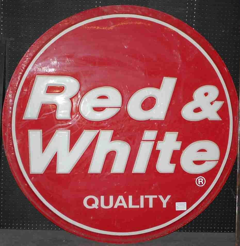 RED & WHITE QUALITY SIGN