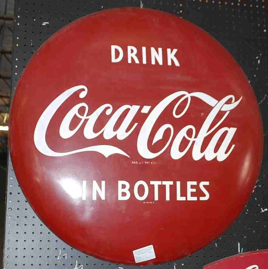 LARGE COCA COLA BUTTON
