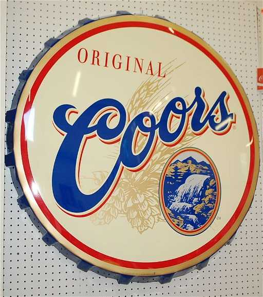 COORS BOTTLE CAP SIGN 0a3cac5f2e4