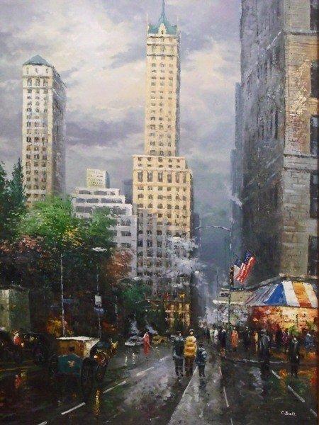 """70: CECIL BELL """"NEW YORK CITYSCAPE"""" ORIGINAL"""