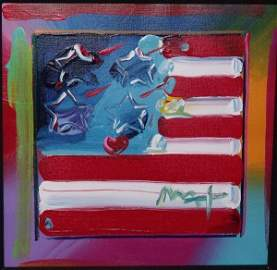 "362: PETER MAX ""FLAG"" ORIGINAL"