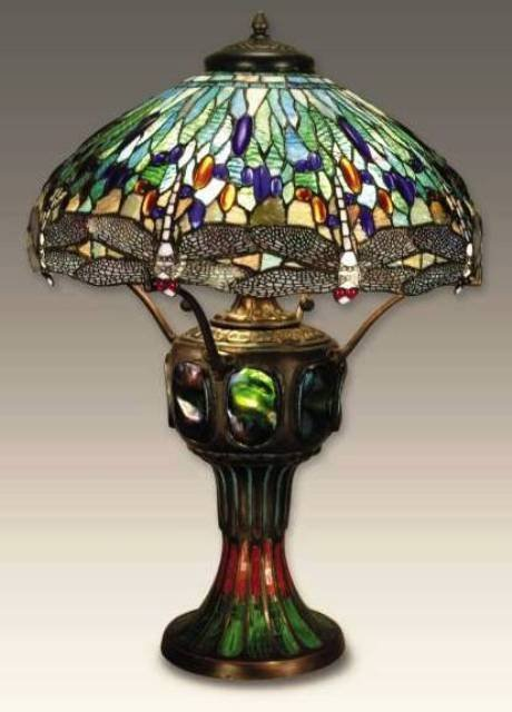 887: Dragonfly Table Lamp