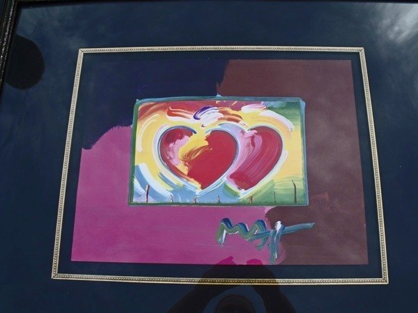 "262: PETER MAX ""TWO HEARTS"""