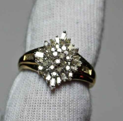 15: .5 Carat Total Weight Diamond Ring