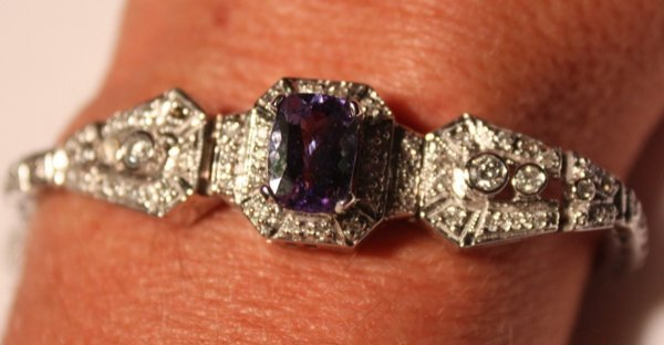 23: Tanzanite & Dia. Bracelet - 2.35 ct Tan. / 1.11 ct