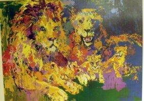 "268: NEIMAN ""LIONS"" SIGNED,FRAMED & MATTED W/COA,MINT"