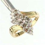 1310: 1 ctw Diamond 10K Gold Ring