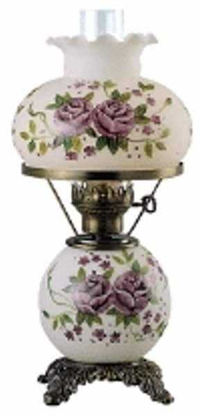 20: Antique Bronze Oil Lamp