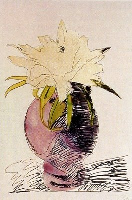 "300: Warhol ""Flowers"" Hand-colored Screenprint"